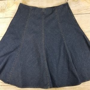 Jones New York flared denim knee length skirt